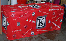 8' Fitted Table Cloth with Dye-Sublimation Printing of Graphics(China)