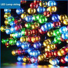 Modern solar LED lamp string led lamps 20M/200PCS led light christmas lights outdoor Holiday christmas decorations for home Z20(China)