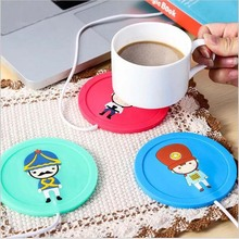 Cartoon creative 5V USB Silicone Electric Insulation Coaster Milk Tea Coffee Mug  Hot Drinks Beverage Cup Warmer Heater Device