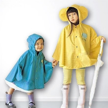 2017 New Lovely Cartoon Kids Baby Children Student Portable Light Rain Coat Raincoat Rain Gear Rainwear Rain Poncho Rainsuit