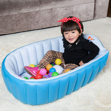 PVC safety portable inflatable baby swimming pool for 0-3 years old kids bathtub thickening Folding Children washbowl(China)