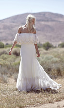 Buy Vestido de Novia Hippie Bohemian Wedding Dress Strapless Shoulder Vintage Bridal Gowns Lace Boho Chic White Bride Dresses for $139.00 in AliExpress store