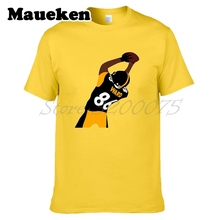 Men Hines Ward 86 MVP Pittsburgh record legend T-shirt Clothes T Shirt Men's tshirt for Steelers fans gift o-neck tee W17112309(China)