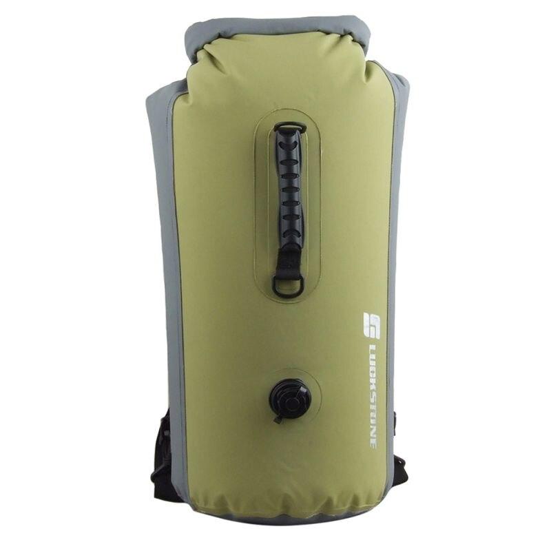 25L/35L/60L  Travel Dry Bags Kayak Canoe Rafting Waterproof Double-Shoulder Bag Portable Outdoor Travel PVC Diving Bag<br><br>Aliexpress