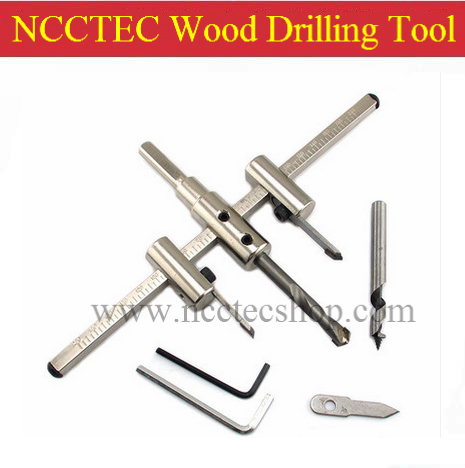 [adjustable range 40-300mm] manual adjustable alloy carbide wood drlling tool | woodwork perforator drill holes opening device<br>
