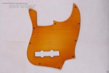 electric J azz B ass GUITAR Pickguard flame maple hand made Yellow Jbass 001#(China)