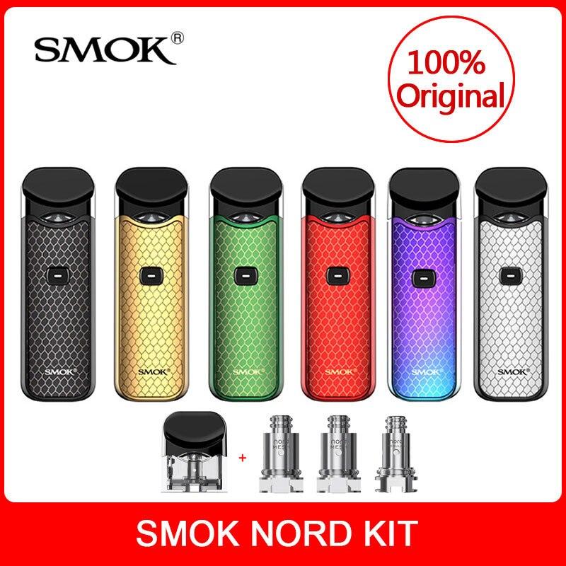 Original SMOK Nord Kit with Built-in Battery+Coils+Pod 3ml For Electronic Cigarette smok nord pod vape kit vs smok novo vape kit