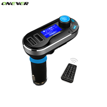 Onever  Bluetooth MP3 Player Handsfree Car Kit + Dual USB Charger + FM Transmitter + Handsfree with Micro SD/TF Card Reader