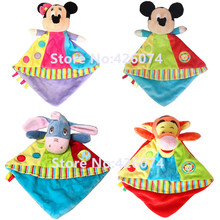 New Minnie Mickey Tigger Eeyore Baby Mini Comfort Towel Blanket Plush For Girls Boys Kids Stuffe Animals Toys Children Gifts(China)