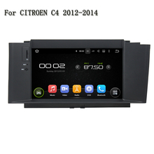 Android 5.1 GPS Navi Radio Steering-Wheel Can Bus Bluetooth TV 3G WIFI Radio HD Car DVD Player For CITROEN C4 2012-2014(China)