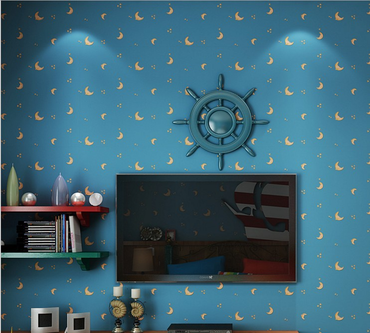 wallpaper wall stickers non-woven contemporary and contracted lovely moon children room Setting wall sitting room bedroom study<br>