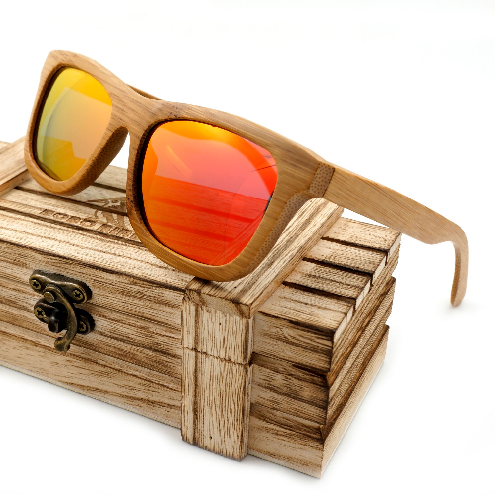 Bobobird Vintage Bamboo Wooden Sunglasses Handmade Polarized Mirror Coating Lenses Eyewear in Wood Box BS011<br><br>Aliexpress