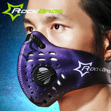 RockBros Half Face Mask Bicycle Cycling Face Mask Shield Unisex Dustproof Activated Carbon Filter Sport Training Mask Bike Mask