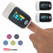 Bag / Rubber Case Alarm setting & Beep Sound OLED display Fingertip Pulse Oximeter Blood Oxygen SpO2 saturation oximetro monitor