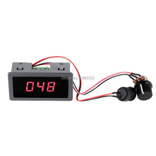 WS16 DC 6-30V 12V 24V Max 8A 240W Motor PWM Speed Controller With Digital Display Adjustable 0%-100% Stepless Control Switch(China)