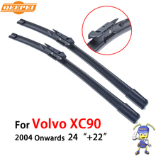 "QEEPEI Wiper Blades For Volvo XC90 2004 2005 2006 2007-2016 Pair 24""+22"" Silicone Rubber Windshield Wiper Auto Car Accessories"