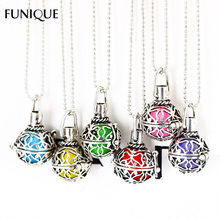 FUNIQUE Aromatherapy Essential Oil Chain Statement Necklace Women Aroma Perfume Pendant Necklace Women Girl Jewelry Gift New