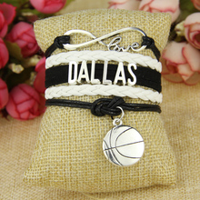 Infinity Love Dallas Football Team Bracelet Black white Sports Promotion(China)
