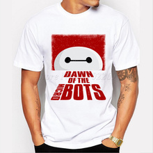 2017 Men's Cute Cartoon Dawn of the microbots T shirt Hipster Tops Men's Printed Short Sleeve Tees(China)
