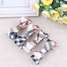 High Quality Hair Clips Plaid Fabric Bowknot Hair Accessories Korean Style Fashion Barrettes For Women Girls BB Clips Headwear(China)