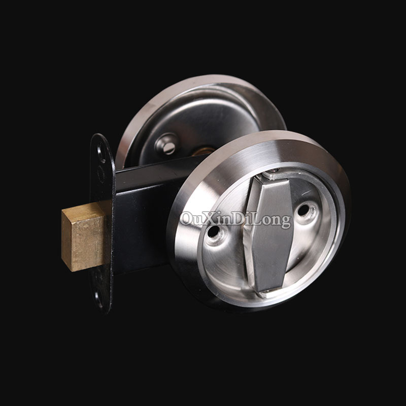 NEW 304 Stainless Steel Cup Handle Recessed Door Handles Cabinet Invisible Pull Handle Fire Proof Set Disk Ring Lock<br>