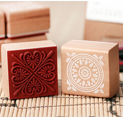 New sweet lace series wood round stamp 4*4CM square shape gift stamp 6 designs Scrapbook decoration JJ0052<br><br>Aliexpress