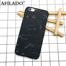 Fashion Cartoon Stars Constellation Hard Matte Plastic Back Cover for Apple IPhone 6 6s 5 5s SE Phone Case Ultra Thin Shell Capa