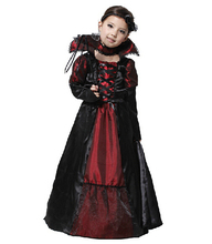 Children Girls Princess Vampire Costumes Children's Day Halloween Costume for Kids Long Dress Carnival Party Cosplay C36103