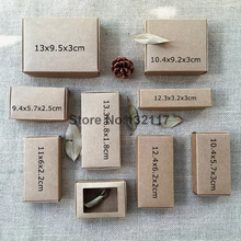 50PCS Natural Kraft Paper Box Craft Gift Box Wedding Candy Box Carton Cajas Packaging for Soap Jewelry Box Caixa