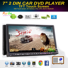 In Dash HD Touch Screen 2Din android Car DVD/USB/SD Player Bluetooth GPS Stereo Radio Car phone Connector for all Car Multimidia