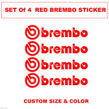 Brembo Logo Decal sticker , Brembo Brake Caliper Vinyl Decals Sticker Set of 4 Stickers For Auto performance decoration