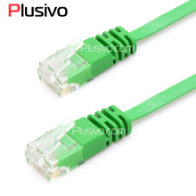 New Passed Fluke CAT6 CAT 6 Flat UTP Ethernet Network Cable 3m RJ45 Patch LAN Cord Green Color(China)