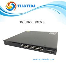 24 Port Managed Gigabit Switch WS-C3650-24PS-E PoE Ethernet Switches(China)