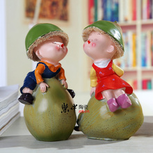 Indoor decoration child decoration bookcase desktop small home decoration pears lovers