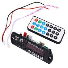 Wireless Bluetooth 12V MP3 WMA Decoder Board Audio Module TF USB Radio for Car Store 47(China)