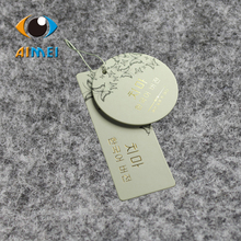 Customize 400gsm kraft paper hang tags with stamped foil logo, Hot stamping gold garment tag, Gift tag, Table Number cards,