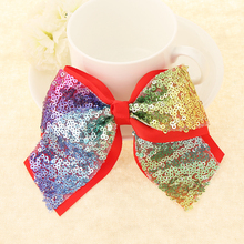 1 PC Big bowknot Kids Girls Hairpins colorful bow hair clips jojo Hair Accessories Satin Ribbon hairbands girl barrette Sequins
