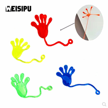 New Arrival 10Pcs/lot Kids Party Supply Favors Mini Sticky Jelly Stick Slap Squishy Hands Toy Party Little Gifts Random Color(China)