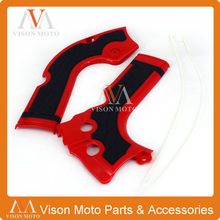 Motorcycle Plastic kits  Frame Crash Guard Protection  For Honda CRF250R 2014 2015 2016 CRF450R 2013 2014 2015 2016  Red Black