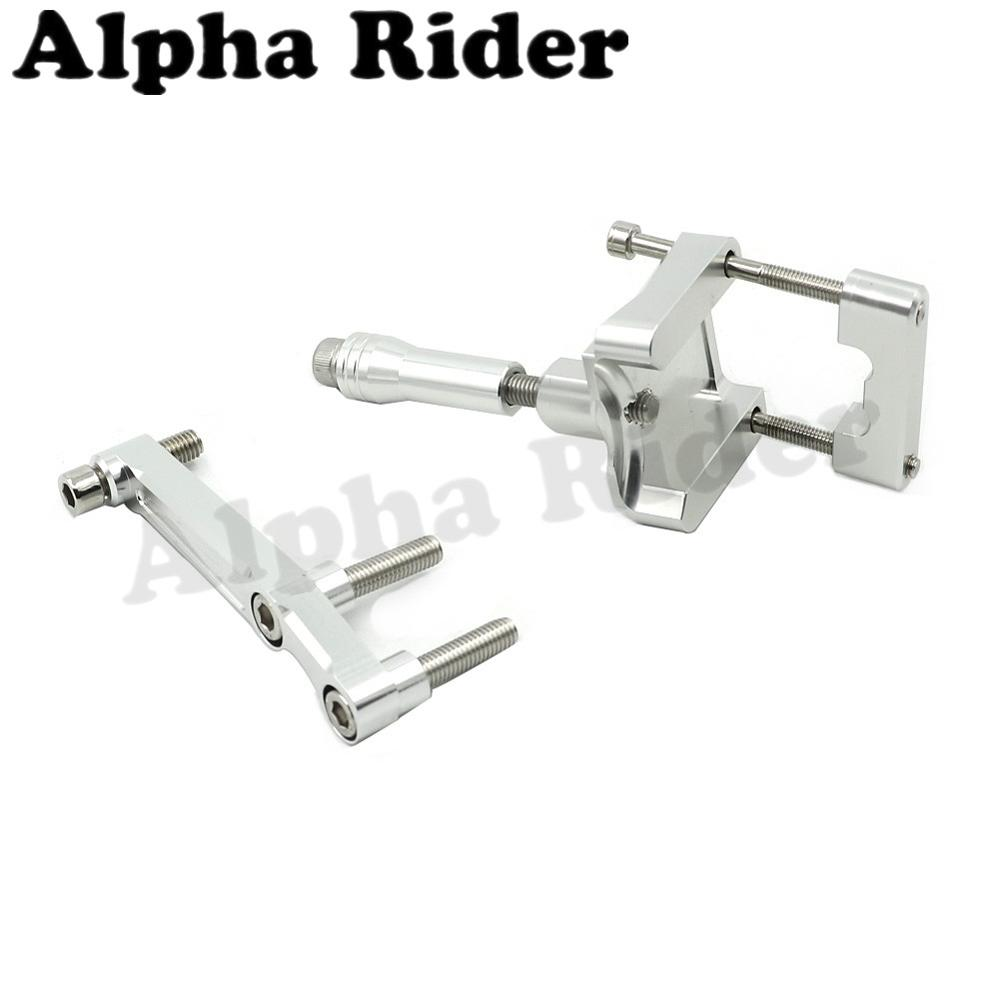 Silver CNC Direction Steering Damper Stabilizer Holder Bracket Mounting for Kawasaki NINJA 250R EX250 2008-2012 2011 2010 2009<br><br>Aliexpress