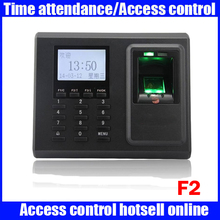 ZK F2 biometric fingerprint time attendance time clock 3000 user capacity RFID card time attendance recording(China)