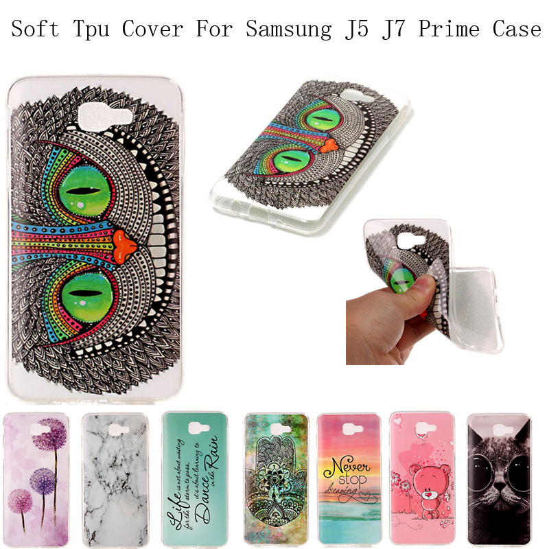 For Samsung Galaxy J5 J7 Prime Cases Silicone IMD Clear Mobile Phone Cases On5 On7 2016 Smartphone Accessories Free Dust Plug(China (Mainland))