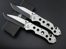 High quality EDC utility Folding Knife stainless steel blade steel handle Camping knife Hunting Knives Multi functional Tools(China)