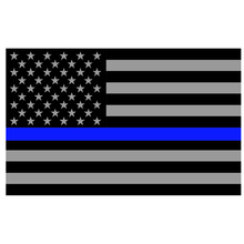 Wholesales Blue Line Stripes American Flags grommets , Police ,Cops Flags ,Black, White, Blue Flags Thin New(China)