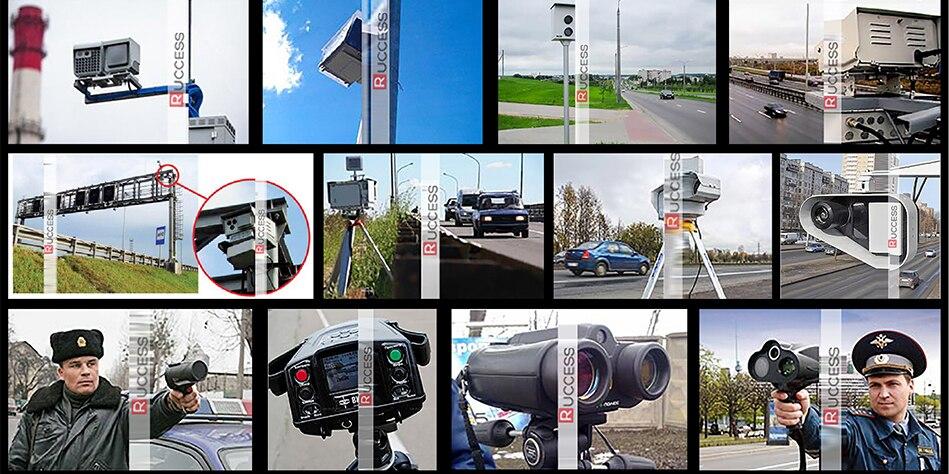 Ruccess 3 in 1 Car Radar Detector DVR Built-in GPS Speed Anti Radar Dual Lens Full HD 1296P 170 Degree Video Recorder 1080P 13