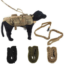 Nylon Tactical Military Army Police Dog Training Leash Elastic Bungee Belt Goods for Dog Multicolor Pets Collar and Leads of Dog(China)