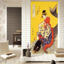 Custom 3d Wallpaper for walls Japanese restaurant aisle backdrop ukiyo-e Japanese painting large murals of fish(China)