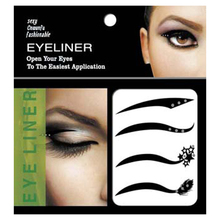 4pair Style Eyeliner Waterproof Temporary Makeup Eye Tattoo Eyelid Transfer Eyeliner Shadow Sticker Eye Liner