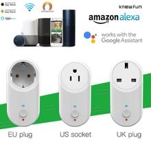 Knewfun Smart Socket Plug WiFi Wireless Remote Socket Adaptor Timer USB IOS/Android App Compatible Alexa Google Home