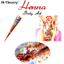 M-theory Mehndi Henna Body Paint 25g Temporary Tatoos Body Arts Mehndi Flash Tatoos Waterproof Swimsuit Bikini Makeup Tools